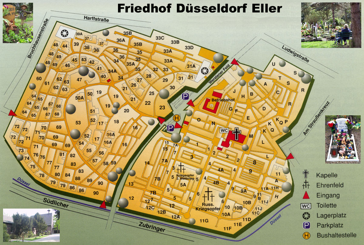 friedhof d sseldorf eller plan. Black Bedroom Furniture Sets. Home Design Ideas